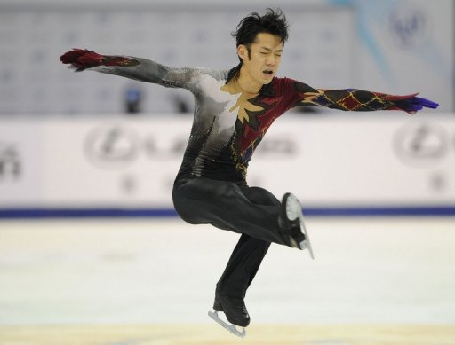 Daisuke Takahashi of Japan performs his routine in the Men's Free Skating program in Shanghai, earlier this month