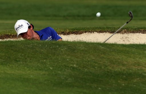 Rory McIlroy is on 11-under-par 133 overnight after failing to birdie the final hole
