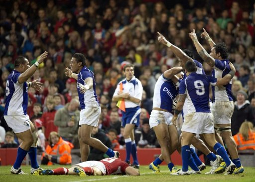 Samoa go into the France game on the back of an upset 26-19 win over Six Nations champions Wales in Cardiff