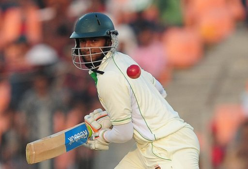 Bangladeshi allrounder Shakib Al Hasan carried the home team from a precarious 82-5 to 262-6 at close of play