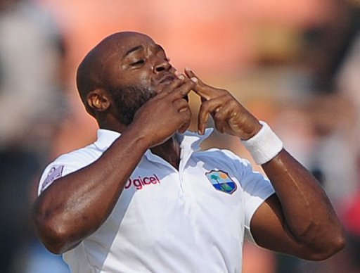 Tino Best was the pick of the West Indian bowlers, and finished on 3-26