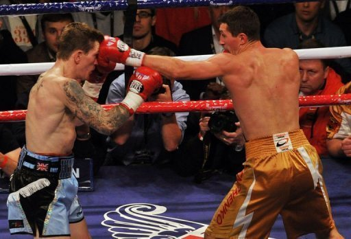 Vyacheslav Senchenko picked Ricky Hatton off repeatedly with his jab