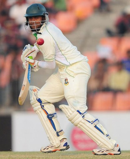 Shakib Al Hasan was the lone Bangladeshi batsman to defy the West Indies attack