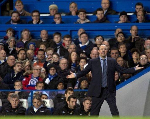 Chelsea's interim manager Rafael Benitez
