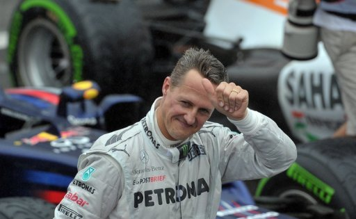Michael Schumacher finished seventh for Mercedes in his final race before retiring