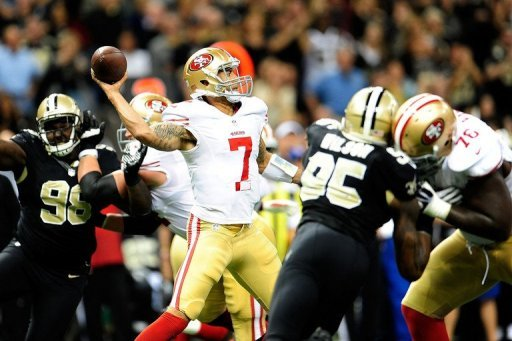 Kaepernick finished with 27 yards and a touchdown on six carries