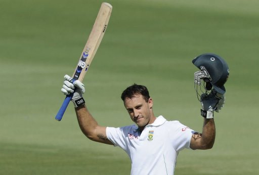 Man-of-the-match Faf du Plessis occupied the crease for almost eight hours in a feat of physical and mental endurance