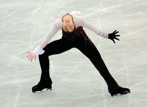 Yuzuru Hanyu of Japan performs during the men's free skating in the NHK Trophy