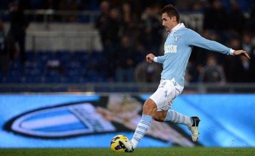Lazio's Miroslav Klose