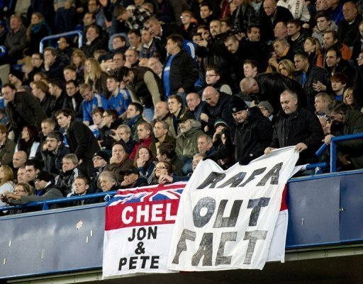 Supporter groups have pledged to repeat their protests against Rafael Benitez when Fulham come to Stamford Bridge