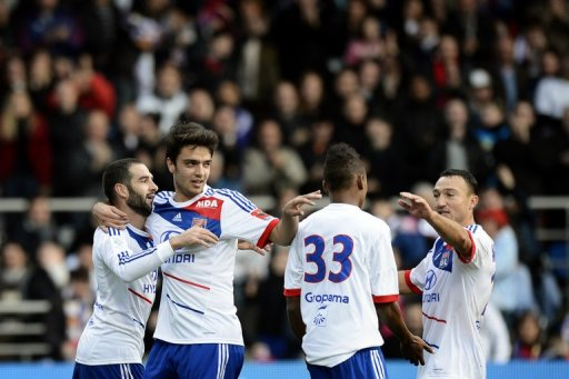 Lyon are just one point behind Marseille in fourth place