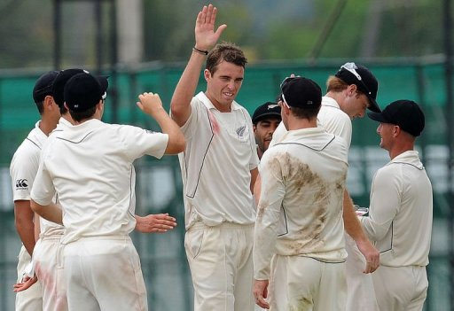 Kiwi fast bowler Tim Southee finished with 5-62 for his third five-wicket haul in a Test innings