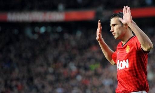 Manchester United striker Robin van Persie, pictured on November 3