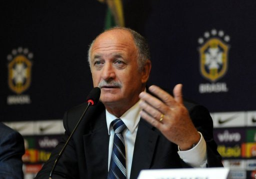 The new coach of the Brazilian football team Luiz Felipe Scolari