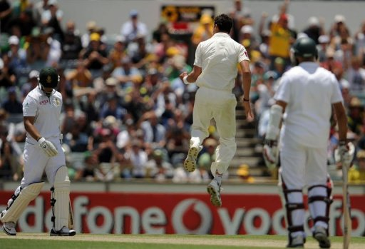 Australian bowler Mitchell Starc was promoted after being 12th man for the first two matches in the series