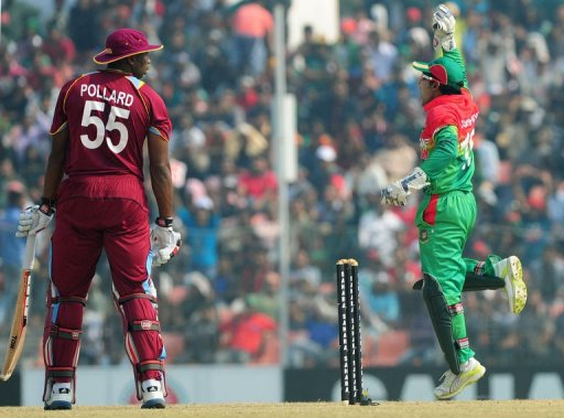 Left-arm spinner Abdur Razzak dismissed big-hitters Kieron Pollard (15) and Andre Russell (nought)