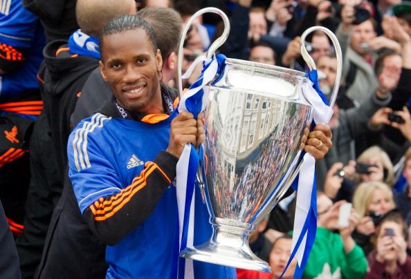Chelsea football club player Didier Drog