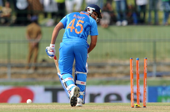Indian cricketer Rohit Sharma gets dismi