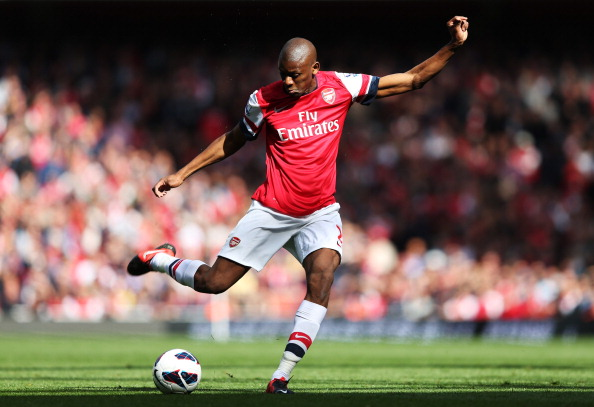 LONDON, ENGLAND - SEPTEMBER 29:  Arsenal's Abou Diaby in action during the Barclays Premier League match between Arsenal and Chelsea at Emirates Stadium on September 29, 2012 in London, England.