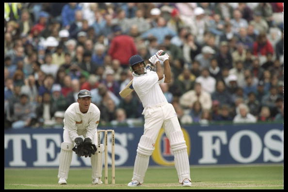 Mohammed Azharuddin of India batting