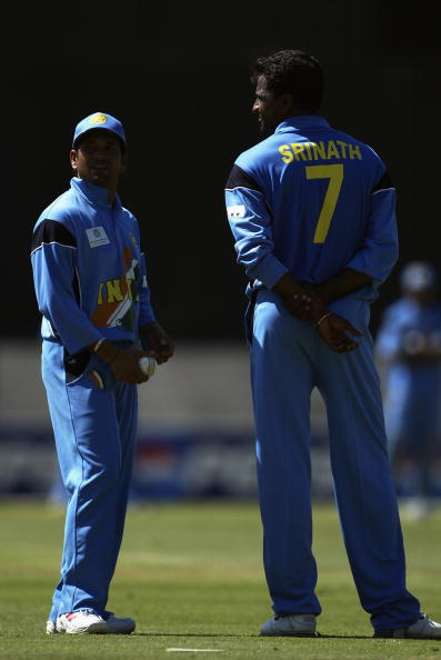 Record breakers Sachin Tendulkar and Javagal Srinath of India