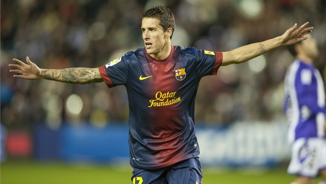 ..while Tello grabbed a late third for Barca, whose lead had been cut to one goal in the 89th minute