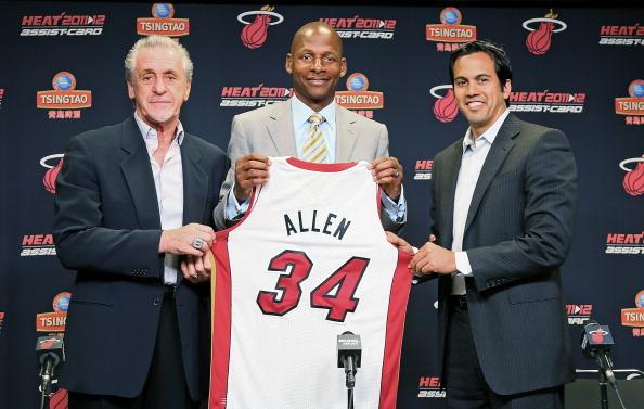 Miami Heat Introduce Ray Allen