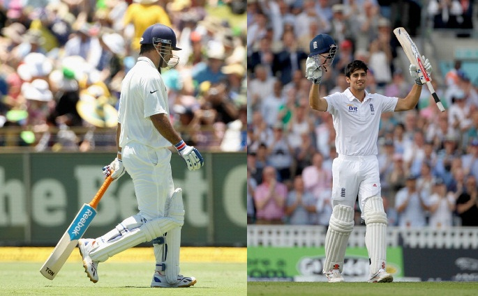 M.S. Dhoni and Alastair Cook...A tale of two halves