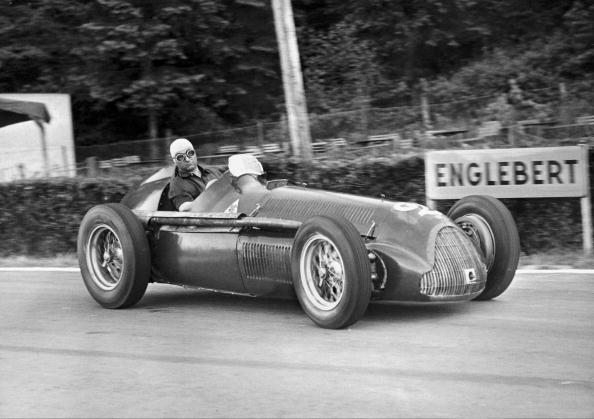 Juan Fangio At The High-Speed Grand Prix Of Francorchamps 1951
