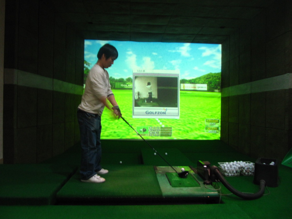 Screen Golf- the next step in golfing?
