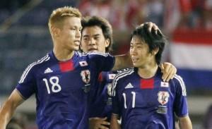 Honda, Okazaki and Kagawa