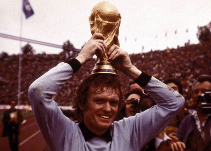 Maier with the 1974 FIFA World Cup at Munich