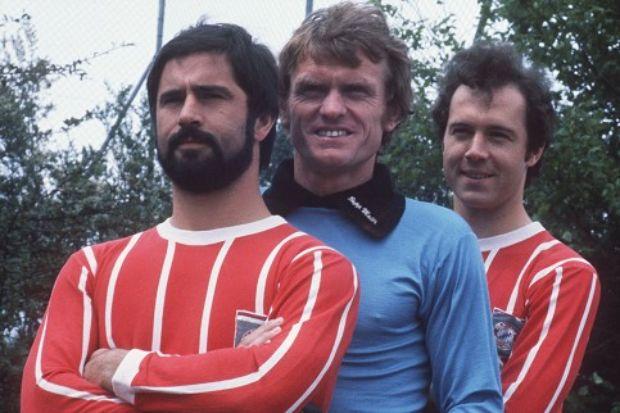 Gerd Muller, 'Sepp' Maier and Franz Beckenbauer