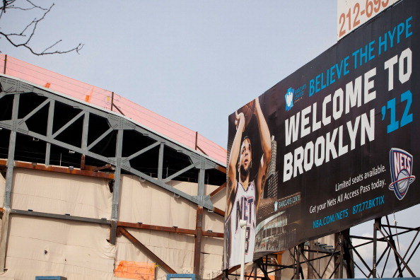 Construction On The New Jersey Net's New Home In Brooklyn, The Barclays Center Continues