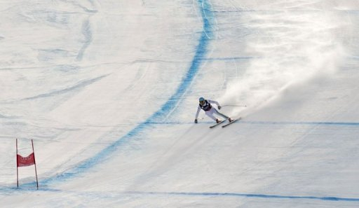 Christof Innerhofer of Italy skis toward the finish