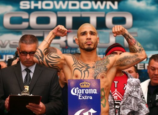 Miguel Cotto is going up against undefeated US boxer Austin Trout