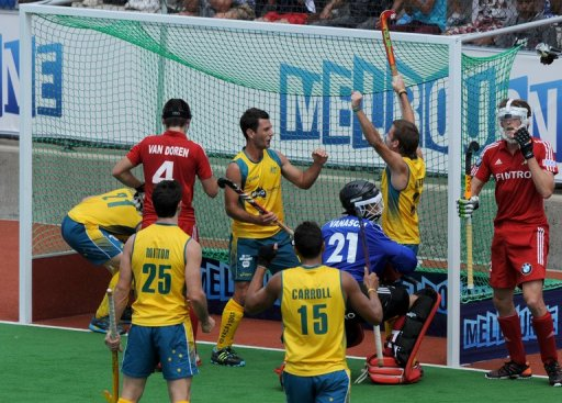 Australia were pushed for their 4-2 win in Pool B on Saturday, holding off the determined eighth-ranked Belgium