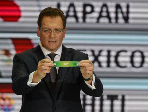 FIFA Secretary-General Jerome Valcke draws Italy