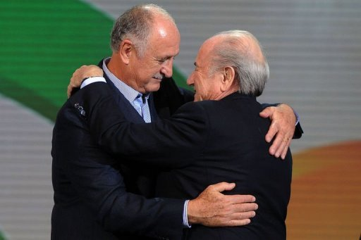 FIFA president Sepp Blatter (right) lauded Brazil for its efforts on readying its infrastructure