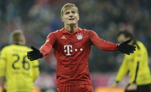 Bayern Munich's midfielder Toni Kroos