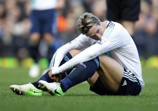 Chelsea striker Fernando Torres, pictured on December 1