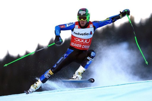 Ted Ligety skis the first run of the men's Giant Slalom at the Audi FIS World Cup in Beaver Creek, Colorado