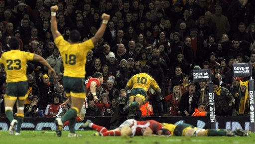 A try by playmaker Kurtley Beale with just seconds remaining condemned Wales to a dramatic 14-12 defeat