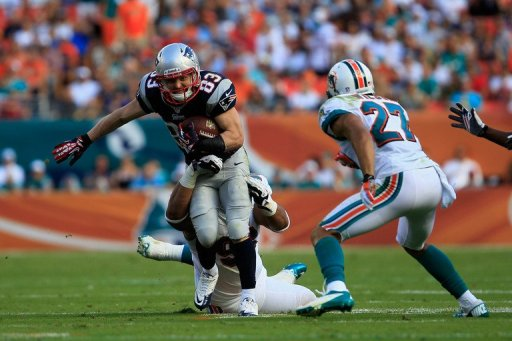 Wes Welker finished with 103 yards on 12 catches for New England