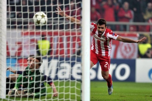 Arsenal let slip a 1-0 lead to lose 2-1 away at Olympiakos