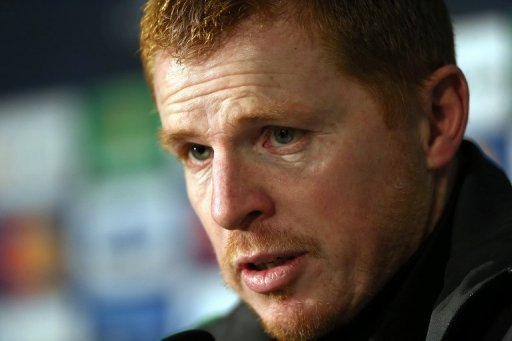 Celtic manager Neil Lennon holds a press conference at Celtic Park in Glasgow, Scotland, on December 4