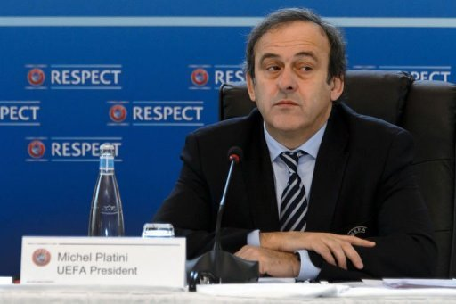 UEFA president France's Michel Platini during the year's last UEFA meeting in Lausanne