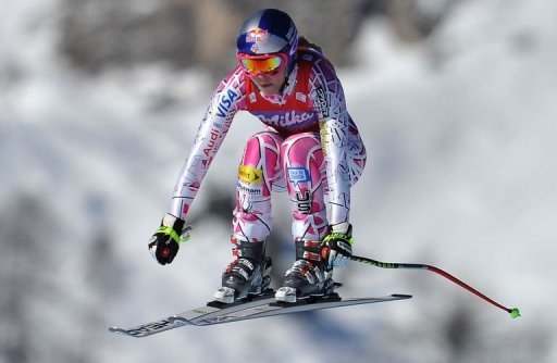 Vonn's win come just a week after she swept the board at Lake Louise, Canada winning two downhills and a super-G