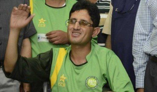 Captain of the Pakistan blind cricket team Zeeshan Abbasi