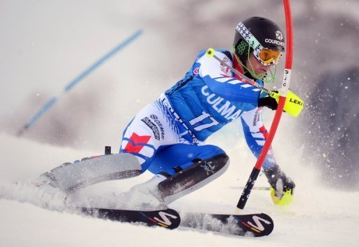The French skier, who was sixth after the first leg, scorched the second run to time a combined total of 1min 36.55sec.
